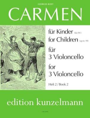 Carmen für Kinder, Heft 2 -3 Violoncello BIZET Partition laflutedepan