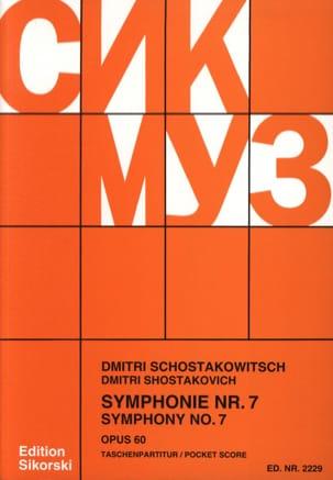 Symphonie N° 7, opus 60 - Partitur - CHOSTAKOVITCH - laflutedepan.com
