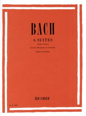 BACH - 6 Suites - transcribed for Alto Giuranna - Partition - di-arezzo.com