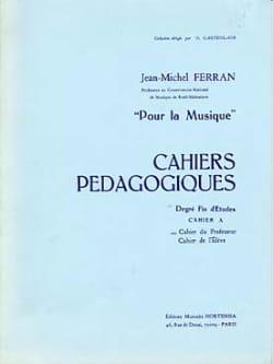 Cahiers pédagogiques - fin d'ét. A / Prof Pour la musique laflutedepan