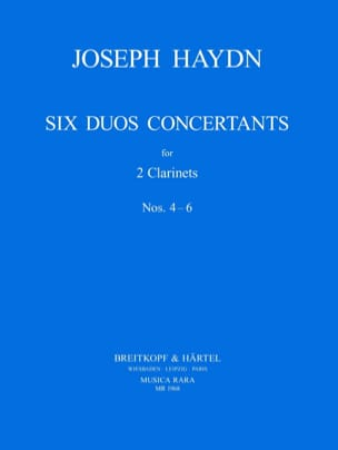 Six Duos Concertants N° 4-6 - 2 Clarinets HAYDN Partition laflutedepan