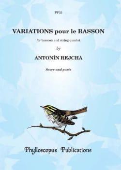 Variations pour le Basson REICHA Partition Quintettes - laflutedepan