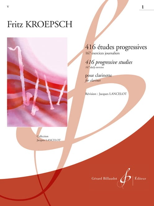 416 Etudes Progressives Volume 1 - Fritz Kroepsch - laflutedepan.com