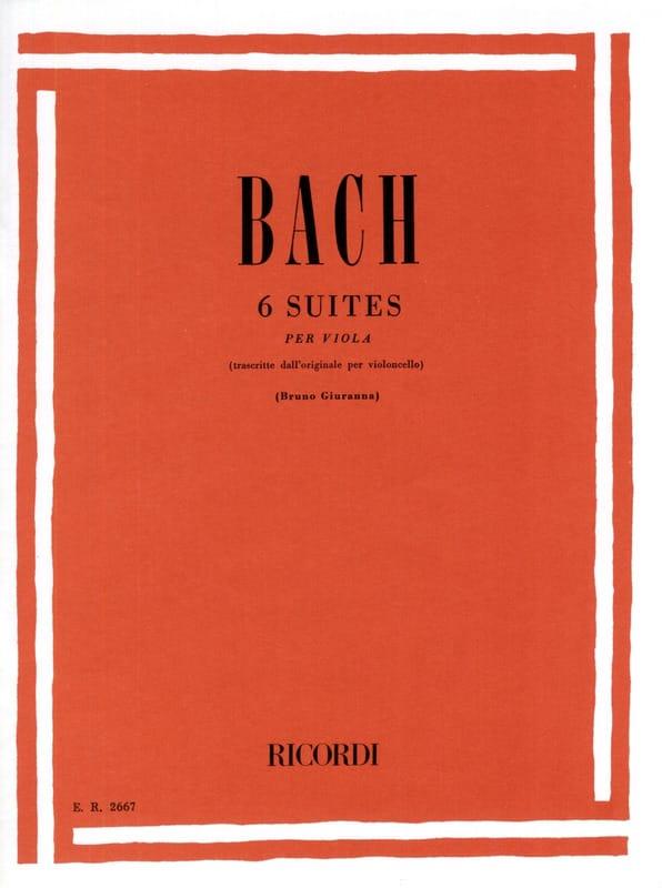 6 Suites - transcrites pour Alto Giuranna - BACH - laflutedepan.com