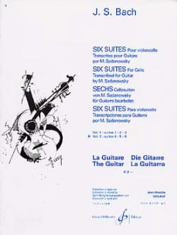 6 Suites guitare - Volume 2 : Suites 4.5.6 BACH Partition laflutedepan