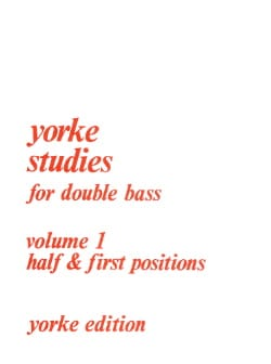 Yorke Studies For Double Bass Volume 1 Rodney Slatford laflutedepan