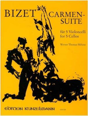 Carmen Suite - 5 Violoncelles BIZET Partition laflutedepan