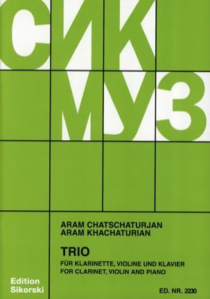 Trio pourClarinette Violon et Piano KHATCHATURIAN laflutedepan