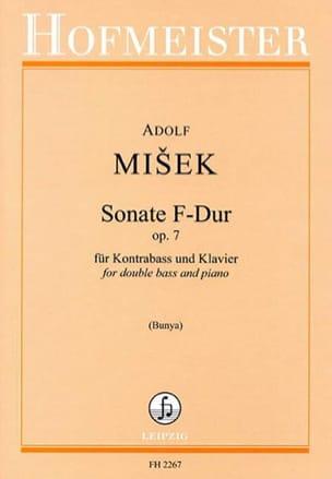 Sonate F-Dur Op. 7 - Kontrabass Klavier Adolf Misek laflutedepan