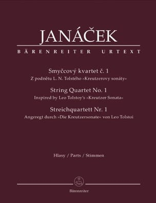 Streichquartett Nr. 1 -parties instrumentales JANACEK laflutedepan