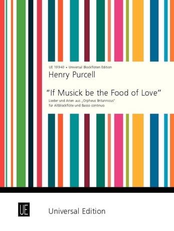 If Musick be the Food of Love - PURCELL - Partition - laflutedepan.com
