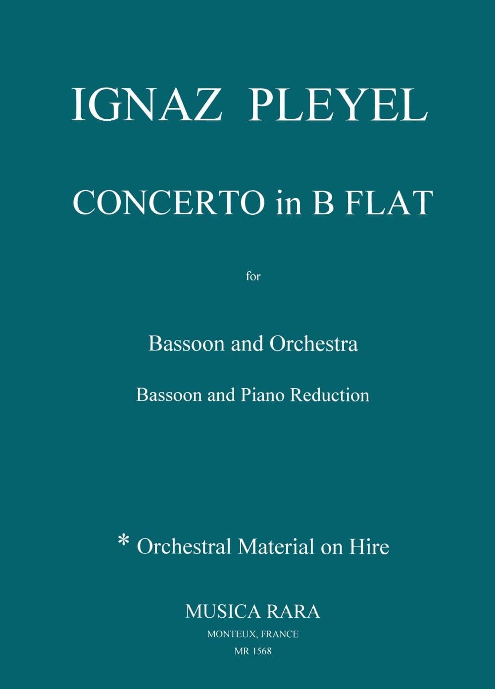 Concerto en Sib Majeur - Basson et Piano - laflutedepan.com