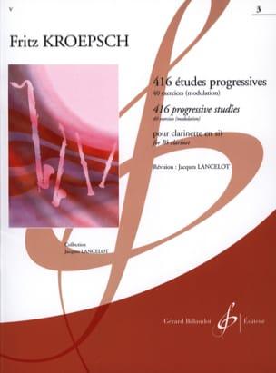 Fritz Kroepsch - 416 Progressive Studies Volume 3 - Partition - di-arezzo.com