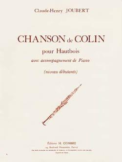 Chanson de Colin Claude-Henry Joubert Partition laflutedepan