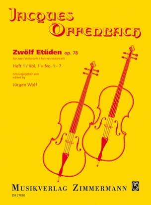 Zwölf Etüden op. 78, Heft 1 : n° 1-7 OFFENBACH Partition laflutedepan