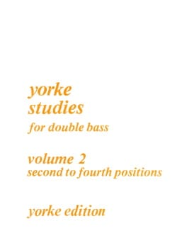 Yorke Studies For Double Bass Volume 2 Rodney Slatford laflutedepan