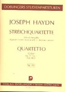 Streichquartett G-Dur op. 77 n° 1 Hob. 3 : 81- Partitur laflutedepan