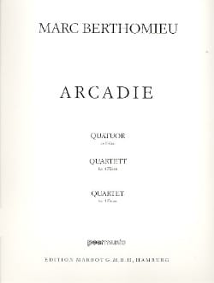 Arcadie - 4 Flûtes Marc Berthomieu Partition laflutedepan