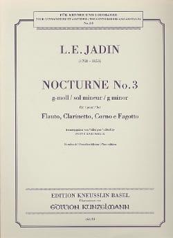 Nocturne N° 3 g-moll -Flauto clarinetto corno fagotto laflutedepan