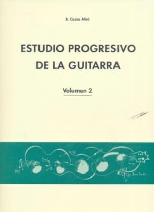 Estudio Progresivo de la guitarra Vol 2 Miro Casas laflutedepan