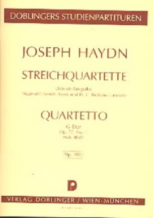 Streichquartett G-Dur op. 77 n° 1 Hob. 3 : 81- Partitur - laflutedepan.com