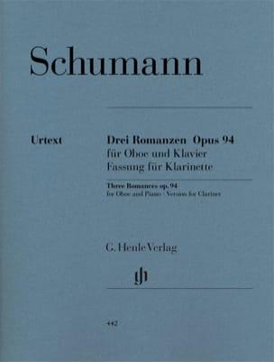 3 Romances op. 94 SCHUMANN Partition Clarinette - laflutedepan