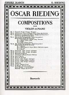 Zigeunermarsch op. 23 n° 2 Oskar Rieding Partition laflutedepan