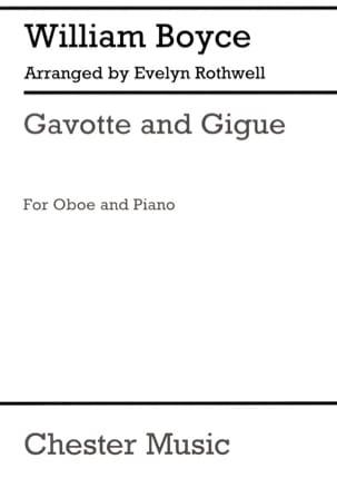 Gavotte and Gigue William Boyce Partition Hautbois - laflutedepan
