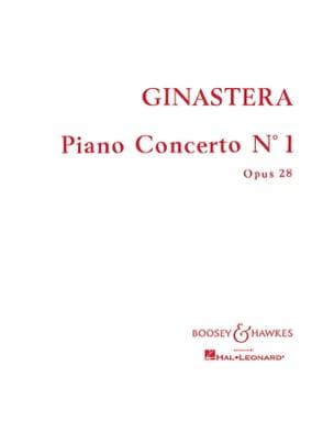 Piano Concerto n°1 op. 28 GINASTERA Partition laflutedepan