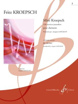 Mini-Kroepsch - 138 Exercices Journaliers Cahier 1 laflutedepan