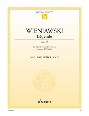 WIENIAWSKI - Legend - Opus 17 - Partition - di-arezzo.co.uk