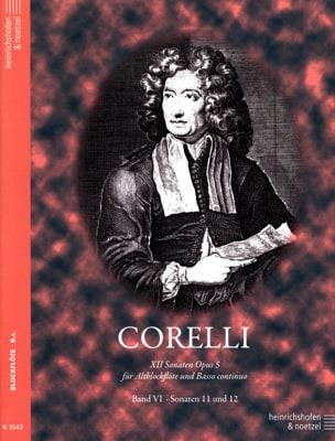 CORELLI - 12 Sonaten op. 5 - Bd. 6 - Altblockflöte u. Bc - Partition - di-arezzo.com