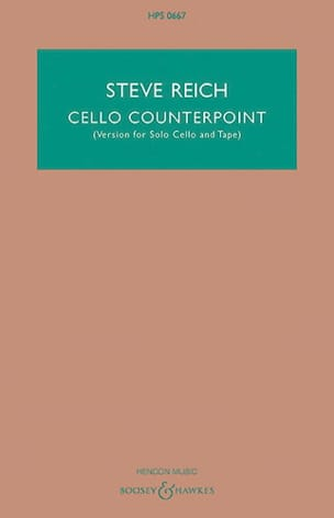 Cello Counterpoint Steve Reich Partition Grand format - laflutedepan
