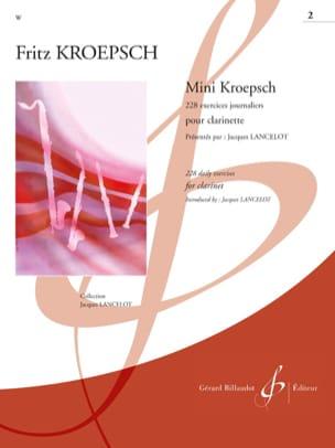 Fritz Kroepsch - Mini-Kroepsch - 228 Daily Exercises Workbook 2 - Partition - di-arezzo.com