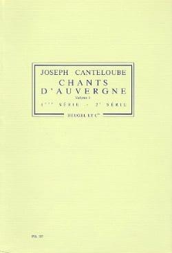 Chants D'auvergne Volume 1 Joseph Canteloube Partition laflutedepan