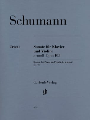 Sonate pour violon en la mineur op. 105 SCHUMANN laflutedepan