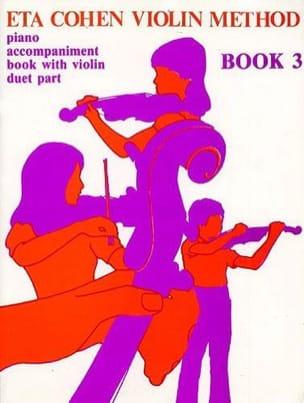 Violin Method, Volume 3 - Piano accomp. Eta Cohen laflutedepan