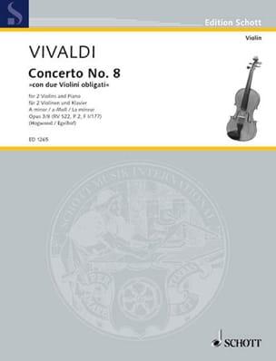 Concerto a-moll op. 3 n° 8 -2 Violinen Klavier - laflutedepan.com