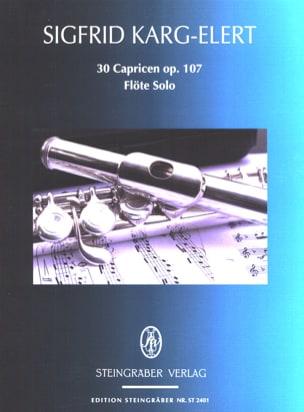 30 Capricen op. 107 - Flöte solo Sigfrid Karg-Elert laflutedepan