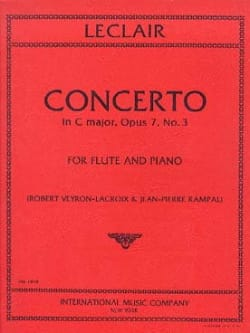 Concerto In C Major Op. 7 N° 3 LECLAIR Partition laflutedepan