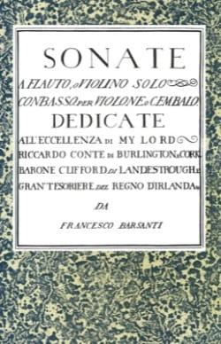 6 Sonate a flauto, o violino solo con basso laflutedepan