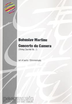 Concerto da Camera - Parts MARTINU Partition Quatuors - laflutedepan