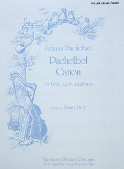 Canon - Violon/Cello/Piano PACHELBEL Partition Trios - laflutedepan