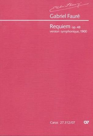 Gabriel Fauré - Requiem Op. 48 Version 1900 - Partition - di-arezzo.co.uk