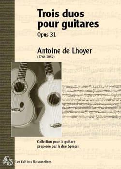 Trois Duos concertants pour 2 guitares ou lyres, op. 31 laflutedepan