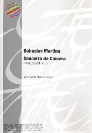 Concerto da Camera - Parts - MARTINU - Partition - laflutedepan.com