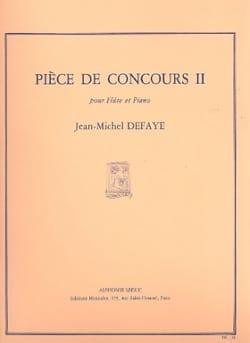 Pièce de concours 2 Jean-Michel Defaye Partition laflutedepan