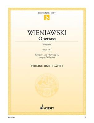 Obertass op. 19 n° 1 - WIENAWSKI - Partition - laflutedepan.com