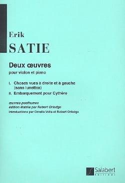 Erik Satie - 2 Artworks - Partition - di-arezzo.co.uk