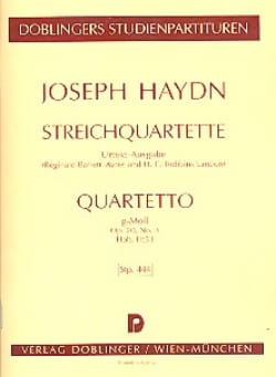 Streichquartett G-Moll op. 20 n° 3 Hob. 3 : 33 - Partitur laflutedepan